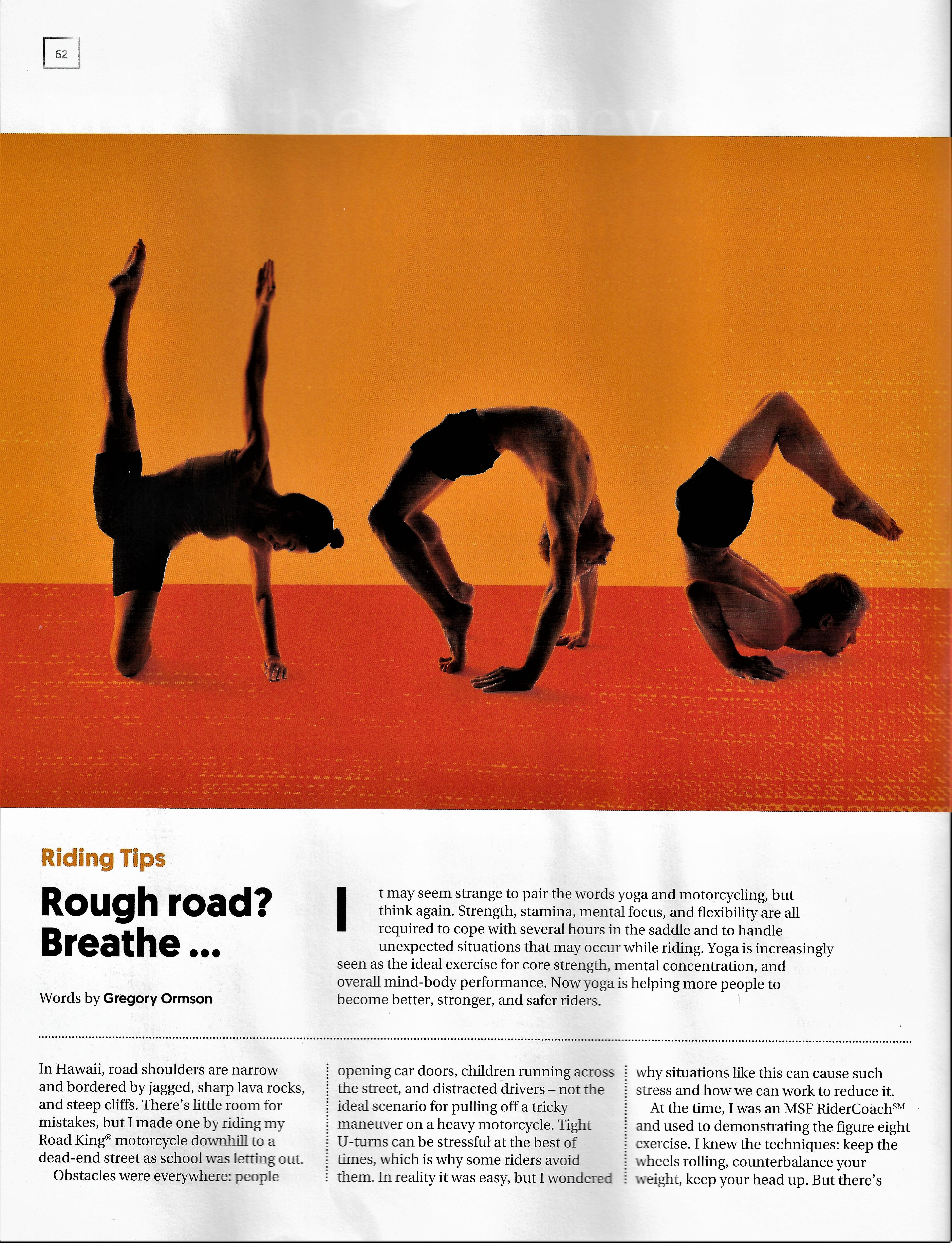 Yoga Leather H O G Magazine Story